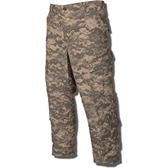 Tru-Spec Army Combat Uniform Pant 50/50 Nylon Cotton Rip-Stop in ACU - Small Short
