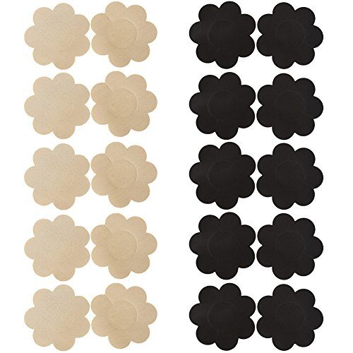 Ayliss Assorted 10Pairs Nipple Covers Disposable Pasties Self-Adhesive  Breast Petals 6e32a8396