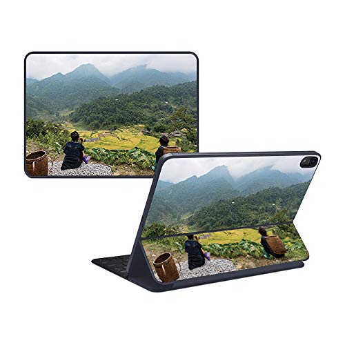 "MightySkins Skin Compatible with Apple iPad Pro Smart Keyboard 12.9"" - Vietnam Mountains 