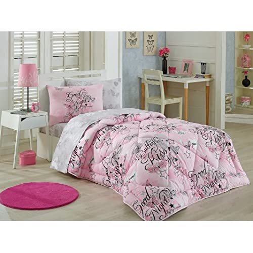 af72615c300 DecoMood 100% Cotton Good Night Girls Bedding