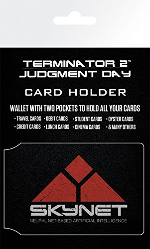 Price comparison product image Set: The Terminator,  2,  Skynet Credit Card Holder Wallet For Fans Collectible (4x3 inches) And 1x 1art1 Surprise Sticker