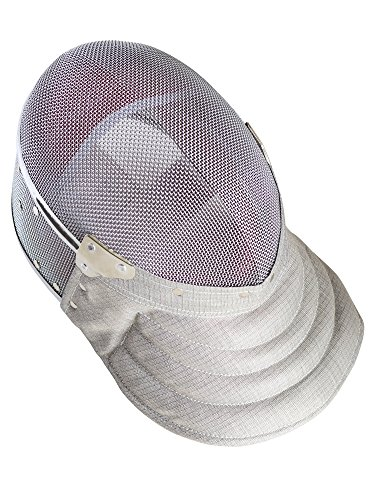 Fencing Sabre Mask CE350N Certified National Grade Including Head Wire (Mask Cord) By American Fencing Gear Large