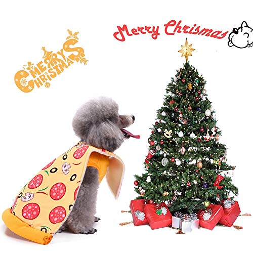 Dog Pizza Costume Halloween Pizza Pet Costume Dogs Cats Super Funny Pizza Style Clothes ()