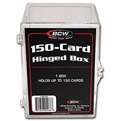 10 BCW Brand 150 Trading Card Capacity Hinged Box / Holder / Case - BCW-HB150 - Protect Your Valuable Sports and Gaming Cards!: Sports & Outdoors