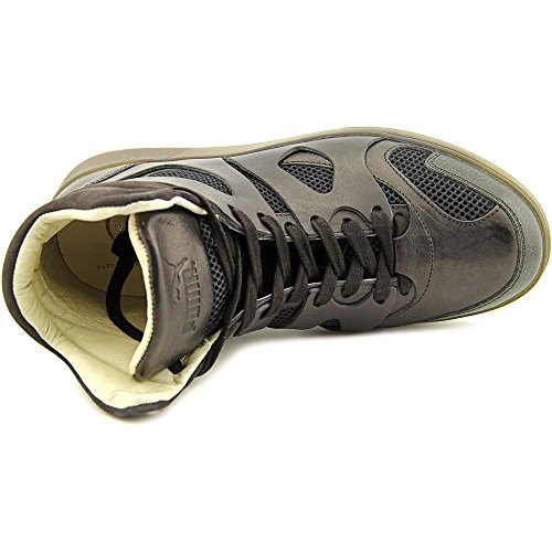 PUMA Mens MCQ Move Mid Alexander McQueen Black Leather Athletic Sneakers PDnXFcEA
