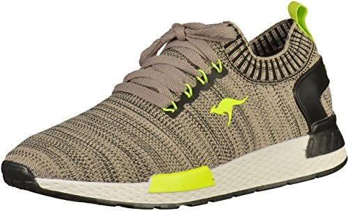 KangaROOS Unisex-Erwachsene W-590 Sneaker, Cream White-lime (81051-0015)