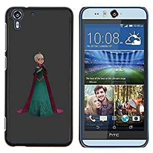 Jordan Colourful Shop - PRINCESS QUEEN CROWN ART BLONDE ROBE For HTC Desire EYE M910x - < Personalizado negro cubierta de la caja de pl????stico > -