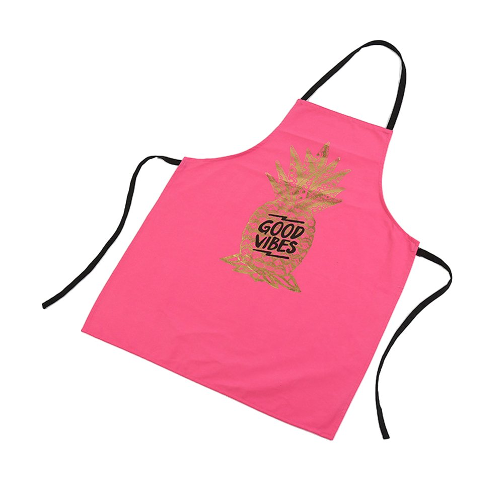 SunYueY Canvas Pineapple Pattern Apron for Household Cooking Kitchen for Men/Women Black