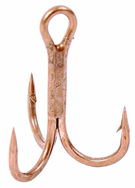 25 Pack Gamakatsu 47107 Round Bend Bronze Treble Hooks Size 6 Super Sharp