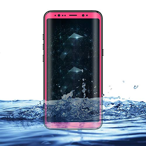 Eazewell Galaxy Note 8 Waterproof Case, Ultra Slim 100% Underwater Cover Shockproof Snowproof Dirtproof Protective Skin Rugged Box for Samsung Galaxy Note 8 SM-N950 (Pink)