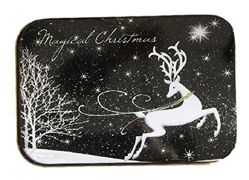 Christmas gift card holders tin box trees and