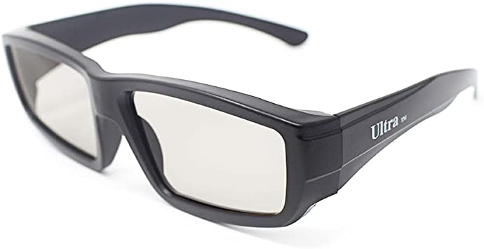 Ultra 5 Par de Negro Gafas 3D Pasivo para Adulti para Uso con ...