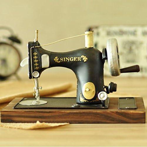 Vintage Decoresd antiguo modelo de máquina de coser Home Furnishing Bar Decoraciones decoración fotografía Tienda de ropa nostálgico Props: Amazon.es: Hogar