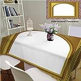 Amavam Unique Custom Cotton Linen Tablecloths Arch Picture Frame Tablecovers Rectangle Tables, 78'' Wx 54'' L, 200x135cm