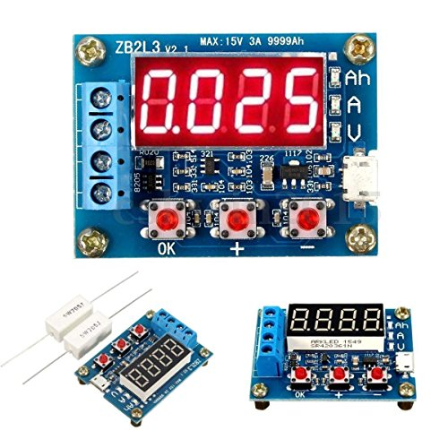 HiLetgo Battery Capacity Meter Discharge Tester Analyzer 1.5V-12V Battery Capacity Meter Discharge Tester