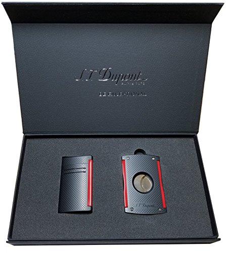 S.T. Dupont Maxijet Set Black & Red Gift Box
