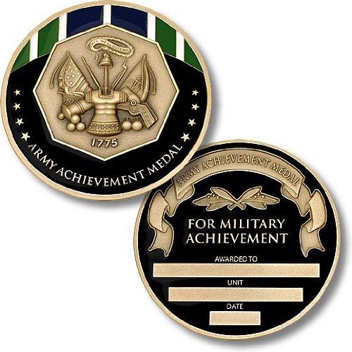 Army Achievement Medal Coin Engravable