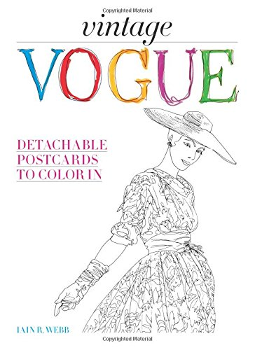 Vintage Vogue Detachable Postcards To Color In