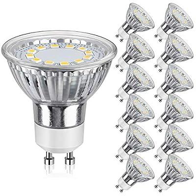 SHINE HAI 50W GU10 LED Light Bulbs?12-Pack