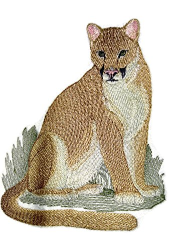 Nature weaved in threads, Amazing Animal Kingdom [Cougar (Mountain Lion) [Custom and Unique] Embroidered Iron on/Sew patch [5.93