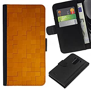KingStore / Leather Etui en cuir / LG G3 / Simple patrón de 32