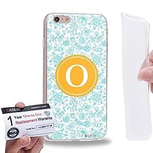 "Case88 [Apple iPhone 6 / 6s Plus (5.5"")] Gel TPU Carcasa/Funda & Tarjeta de garantía - Art Typography Fashion Alphabet O Style"