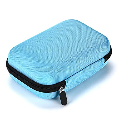 Hipiwe Hard Shell Essential Oil Carrying Case Holds 12 Bottles (Can hold 5ml, 10ml, 10ml Rollers) Travel Size Essential Oils Bag Organizer Perfect for Young Living, doTERRA, and more (Blue)