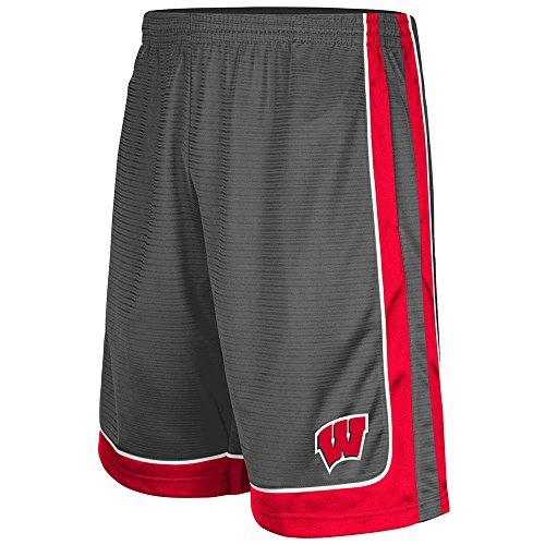 Mens NCAA Wisconsin Badgers Basketball Shorts (Charcoal) - XL (Wisconsin Badgers Mens Basketball)