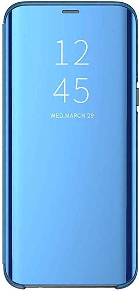 Miroir Coque pour Samsung Galaxy A20e Coque Flip Case Clear View Case Placage Miroir Effet Coque /à Rabat Magn/étique PU Cuir Anti Choc Housse Etui Protection pour Galaxy A20e,OR