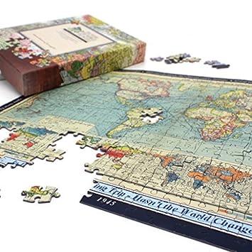 Personalised world map jigsaw puzzle amazon toys games personalised world map jigsaw puzzle gumiabroncs Images