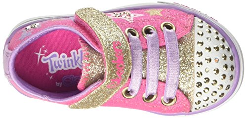 Skechers Mädchen Sparkle Glitz Ausbilder Pink (Hot Pink/gold)