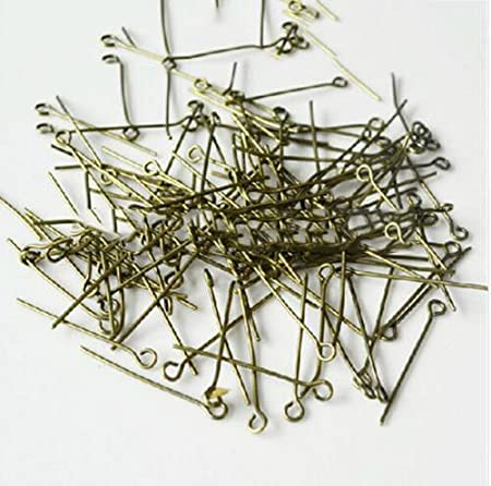 Silver, 60mm Eye Pin 200 PCS Eye Pin Jewelry Making Needles Earrings Clasp Beading Findings Bracelets Necklaces Beads Connector Accessories Materials