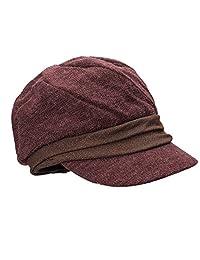 Lawliet Womens Shimmer Thread newsboy Baker Boy Cabbie Cap Winter Hat T299