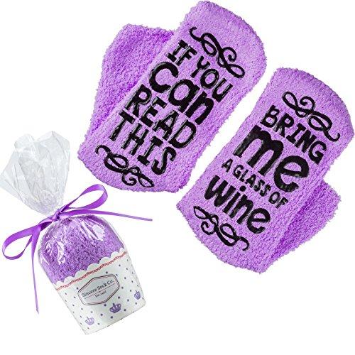Luxury Fuzzy Wine Socks -