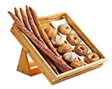 Rosseto SB112 Natura Tray and Stand Set, Large, Bamboo (Pack of 2)