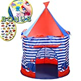 FHLove Kids Play Tent Sea World Playhouse, Foldable Teepee Tents Blue Castle for Girls Boys Baby...