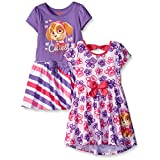 Paw Patrol Little Girls' Dresses, Pink, 4 (Pack of 2)