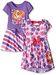 Paw Patrol Little Girls\' Dresses, Pink, 4 (Pack of 2)