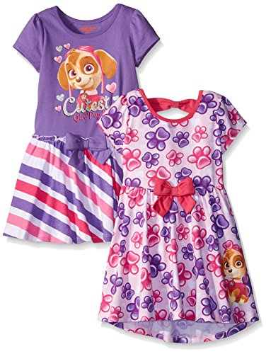 Paw Patrol Little Girls' Toddler Dresses, Pink, 2T (Pack of 2)