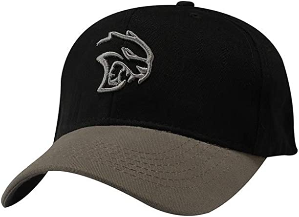 One Size Fits Most SRT Dodge Hellcat Two Tone Cap Black//Grey