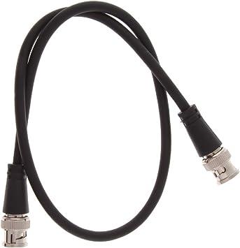 P Prettyia Convertidor de Cable AV Coaxial BNC Macho a BNC Macho ...