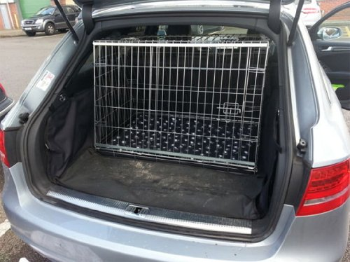 AUDI A4 AVANT 2008 ONWARDS DOG CAGE SLOPED FRONT GUARD PUPPY CRATE CARRIER