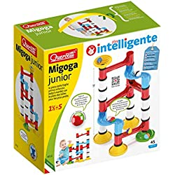 Quercetti Migoga Junior Premium 45 Piece Set - Beginner Marble Run Toy for Ages 18 Months and Up