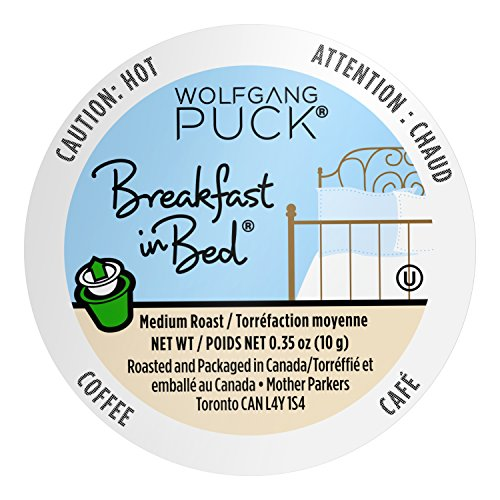 Wolfgang Puck Coffee Single Serve Capsules, Breakfast in Bed, 18 Count