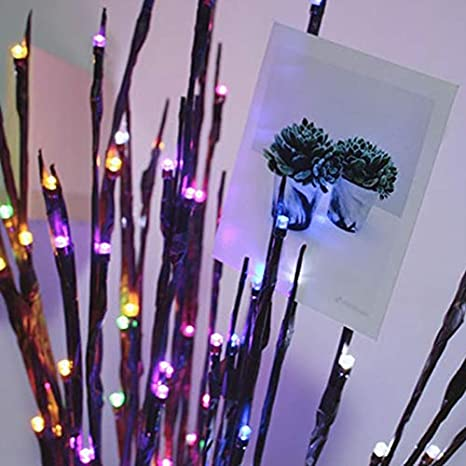 Ltd. Multi-color Twig LED Light,Winnes Artificial Tree Willow Branches Lamp  Auto High 2 Pack 40 Waterproof LED Beads Battery Powered for Home Festival Party Indoor Outdoors Decoration Changsha Yunang Network Technology Co