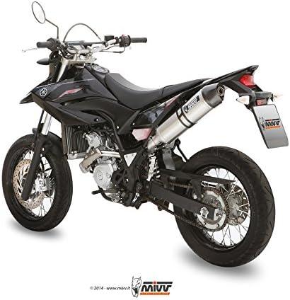 OVAL,Edelstahl // Carbon-cap,Motorrad MIVV-Auspuff YAMAHA WR 125 R//X Bj.ab 2009
