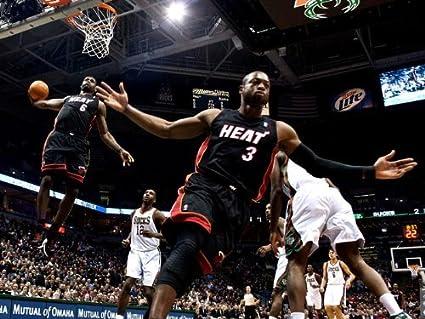 a153add0ad7 Amazon.com  omgposter D8871 Lebron James Dwyane Wade Alley-OOP NBA ...