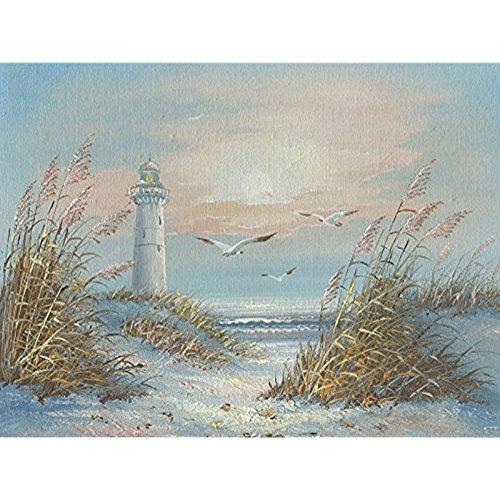 Art Lighthouse Photo (Hilda33Louis Beach Seaside Lighthouse Canvas Art Print Picture 12