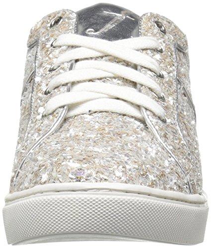 La Réparation De Femmes Tawny Lace-up Fashion Sneaker Argent Glace Textile