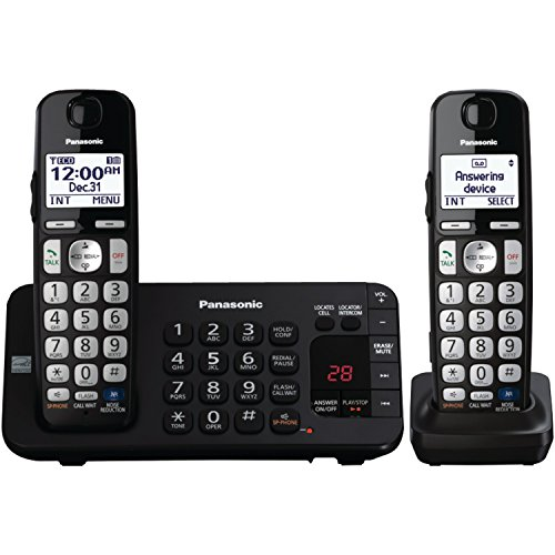 Panasonic KX-TGE244B dect_6.0 4-Handset Landline Telephone (Handset 6.0 Four)